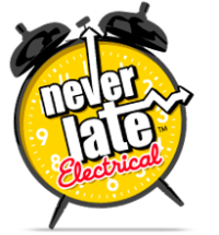 Never Late Electrical Logo